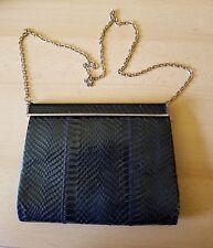 Superb Handbag Vintage Leather and Snake Genuine
