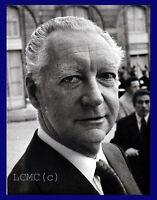 FOTOGRAFIA PRESS PHOTO VINTAGE 1972 FRANCIA MR PIERRE MESSMER PREMIER (DE GAULLE
