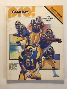 Vintage 1981 NFL Pro! Program--Los Angeles Rams vs New York Giants-Taylor, Simms