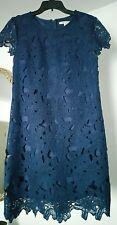 Navy Blue Lace Dress Size Medium - Miami Brand