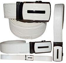 """Men's belt. Leather Belt. Click Comfort belt. Crocodile printed buckle up 43"""" BN"""