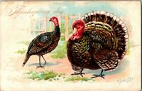 c1908 Tuck Thanksgiving Day Postcard Artist Signed R.J. Wealthy No.123 A25