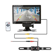"7"" TFT LCD Monitor Car Rear View System Backup Reverse Camera Night Vision Kit"