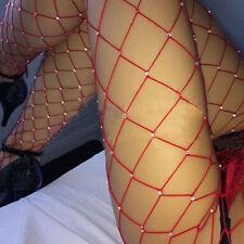 Fashion Women Rhinestone Fishnet Elastic Stockings Big Fish Net Tights Pantyhose