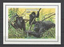 Rwanda 1985 Sc#1212  Gorilla Gorilla Berengei  MNH Souvenir Sheet $15.00