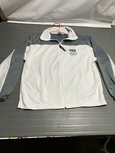 United States Olympic Committee Team USA Embrodered Full Zip Track Jacket SIze-M