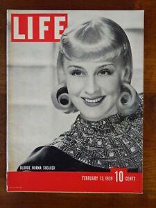 Vintage Life Magazine February 13, 1939 NORMA SHEARER