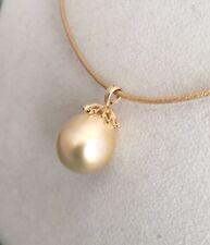 Goldene Südsee Perlen Anhänger 585 Gold
