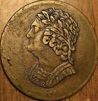 1820 LOWER CANADA BUST AND HARP HALF PENNY TOKEN COIN