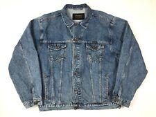 Vintage WRANGLER Denim Trucker Jacket XXL Classic Blue Retro Authentic Western