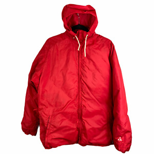 Gerry M-L Hooded Expedition Goose Down Red Parka Puffer Jacket Coat Rare USA Vtg