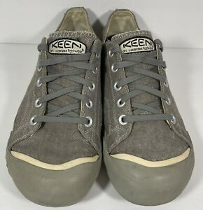 Keen Mens Coronado Canvas Utility Sneaker Gray Fashion Sneaker Size 11.5