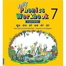 Jolly Phonics Workbook 7 (US Print Letters) : Qu, Ou, Oi, Ue, Er, Ar by Sue...