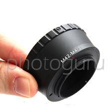 Anello adattatore obiettivi M42 su fotocamera MICRO 4/3 4:3 OLYMPUS PANASONIC