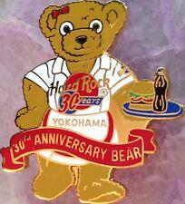 Hard Rock Cafe YOKOHAMA 2001 30 Years TEDDY BEAR PIN 30th Anniversary HRC #10923