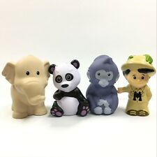 4pcs Fisher Price Little People Jungle TreeHouse Figure Animal Panda elephant