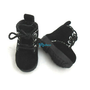 SHP187BLK Mimiwoo 1/6 Bjd Doll Shoes Velvet Boots BLACK fit Blythe Momoko Doll