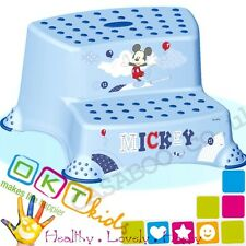 BABY Toddler Toilet Training Double Step Stool Disney Mickey anti-slip cap.120kg