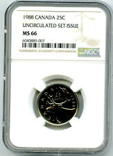 1988 CANADA 25 CENT NGC MS66 QUARTER UNCIRCULATED SET ISSUE