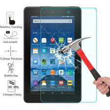 "Tempered Glass Screen Protector Guard For Amazon Fire 7"" Alexa Tablet (2017)"