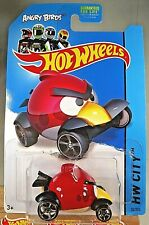 2014 Hot Wheels #82 HW City-Tooned 1 ANGRY BIRDS RED Red/Tan w/Chrome OH5 Spokes