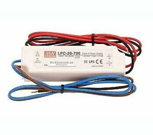 MEAN WELL LED Switching Power Supply 20W Single Output 700mA 9-30V Current IP67