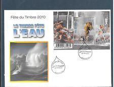 FRANCE 2010.F.D.C.GF.FÊTE DU TIMBRE 2010.L'EAU.OBLIT:LE 27/02/2010 SOLLIES-VILLE