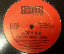 """Everything I Own by Joey Kid 12"""" Freestyle Pristine Basement records"""
