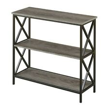 Convenience Concepts Tucson 3 Tier Bookcase, Weathered Gray - 161833WGY