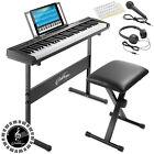 61-Key Digital Keyboard Piano, Beginner Kit w/ Stand, Stool, Phones, Microphone