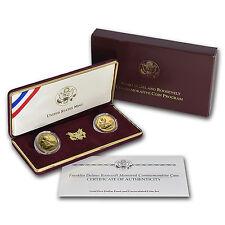 1997-W 2-Coin Commem Franklin Roosevelt Set BU & Prf (Box/COA) - SKU #7151