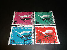 German Stamps, Scott C61-4, Airmail, Used