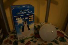 IP65 Rechargeable LED Solar Light Bulb12W E27 Tent Camping Fishing Lamp GL0363