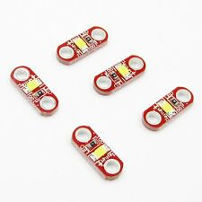5 x SMD White LED for Arduino/Lilypad/Wearable Technologies (3-5V)