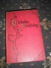 LIFE & ADVENTURES OF NICHOLAS NICKELBY CHARLES DICKENS  c.1867 CHAPMAN & HALL