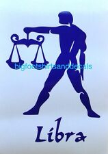 Libra Decal Zodiac Horoscope Birth sign September October Car Window Sticker A