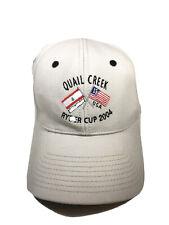 Vintage Ryder Cup 2004 Quail Creek Cap Hat Ashworth Tan Adjustable