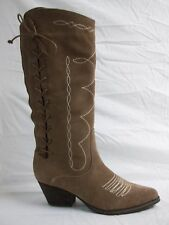 Reba Size 6.5 M Band Tan Leather Knee High Boots New Womens Shoes NWOB