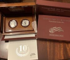 2007 10th Anniversary 9995 Platinum American Eagle 2 Coin Set