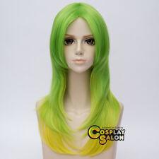 Lolita 55CM Ombre Mixed Green Long Wavy Hair Women Heat Resistant Cosplay Wig