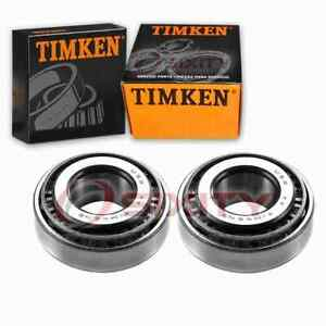 2 pc Timken Front Outer Wheel Bearing and Race Sets for 1975-1981 Triumph pf