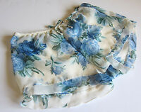 NEW VINTAGE Floral Mesh Semi Sheer Shorts Panties Lingerie SZ S, M, L, XL