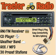 Kubota Tractor Lx Rtv 1100 Rtx 1100c Am Fm Cd Aux Weather Receiver Plug Amp Play