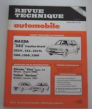 Revue technique RTA 437 Mazda 323 traction avant 323 FF 323 323 FL