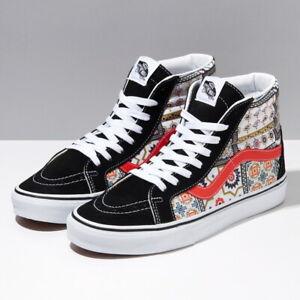 VANS Moroccan Tile Check SK8-Hi Skate Shoes Sneakers Orange VN0A4BV8687 US 4-12