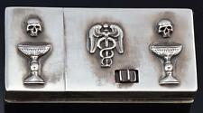 The most unusual Victorian MEMENTO MORI SKULL Doctor's Combination Vesta Case
