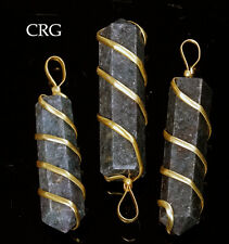 Ruby Kyanite Point Pendant in Gold Plated Spiral (PP45DG)