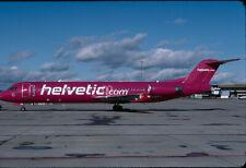 ZRH20 Original aircraft slide/Dia  Helvetic F100 HB-JVF - Kodachrome - not cut