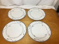 4 GUC Gorham Ariana Town and Country Fine China Collection Dinner Plates 10 5/8""