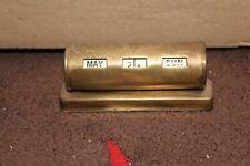 Vintage Brass Perpetual Calendar barrel